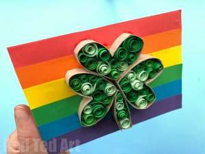 Paper Quilled St. Patrick's Day Card