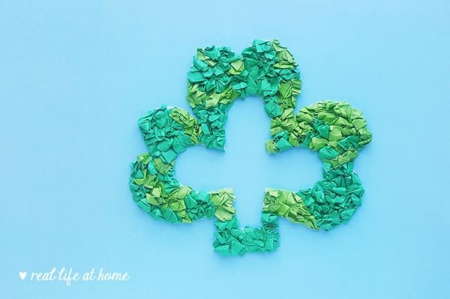 Shamrock Wreath Paper Craft for Kids (Including a Free Shamrock Template) | Real Life at Home