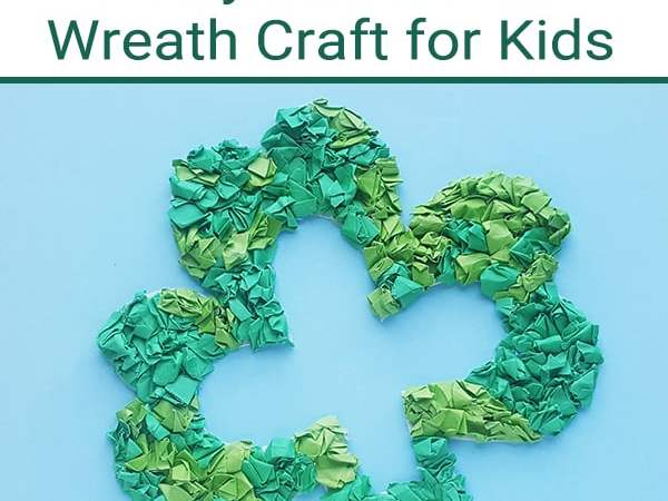 Easy Shamrock Wreath Craft for Kids with Printable Shamrock Template