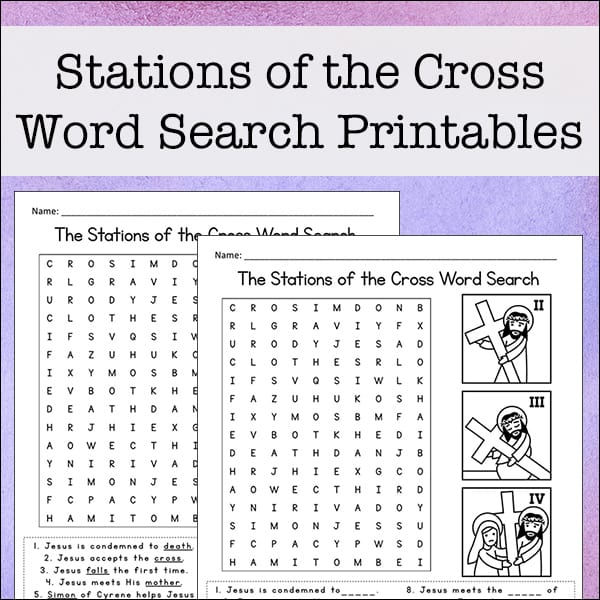 picture about Stations of the Cross Printable identified as Stations of the Cross Term Seem No cost Printable for Children
