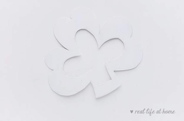 Shamrock Craft Template from Real Life at Home