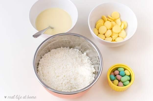 Coconut Nest Cookies Ingredients