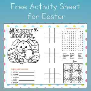 If you're looking for a fun Easter placemat for the kids' table or just some Easter activities, this is a fun free printable Easter Activity page for your kids to enjoy