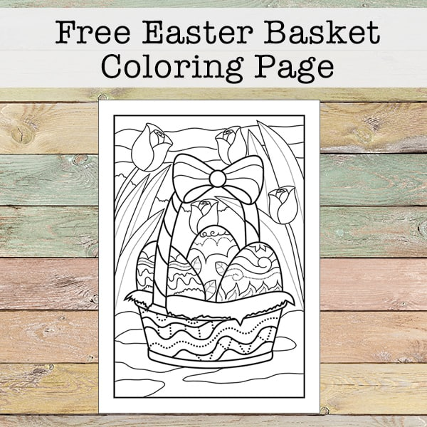 Free Printable Easter Basket Coloring Page for Kids and Adults