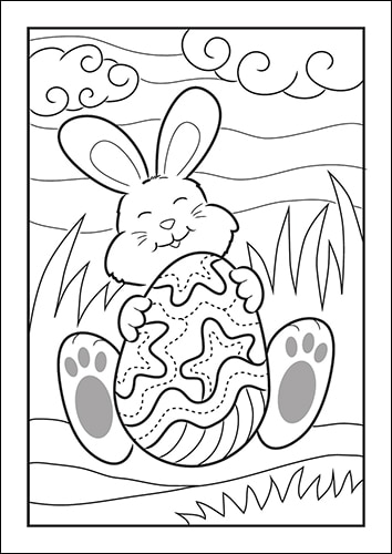 picture relating to Printable Easter Bunny identify Easter Bunny Coloring Web pages for Young children (Totally free Printable Fixed)