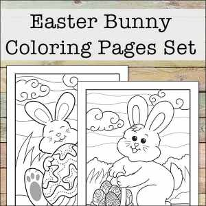 Celebrate Easter and Spring with these free Easter Bunny coloring pages, perfect for kids (and adults) of all ages. Includes 2 Easter Bunny coloring sheets.