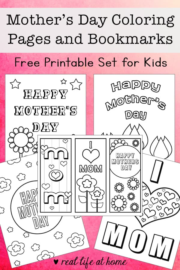 photo regarding Mother's Day Bookmarks Printable Free named Free of charge Moms Working day Coloring Internet pages and Bookmarks Printable Preset
