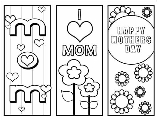 photo regarding Mother's Day Bookmarks Printable Free identify Absolutely free Moms Working day Coloring Web pages and Bookmarks Printable Mounted