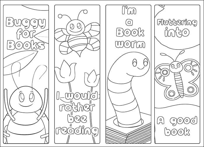 photograph about Free Printable Bookmarks called Cost-free Printable Bug Bookmarks and Studying Log for Young children