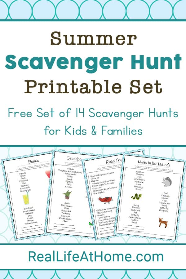 image relating to Printable Scavenger Hunt for Kids known as Summer time Scavenger Hunt Tips - 14 Free of charge Printable Scavenger