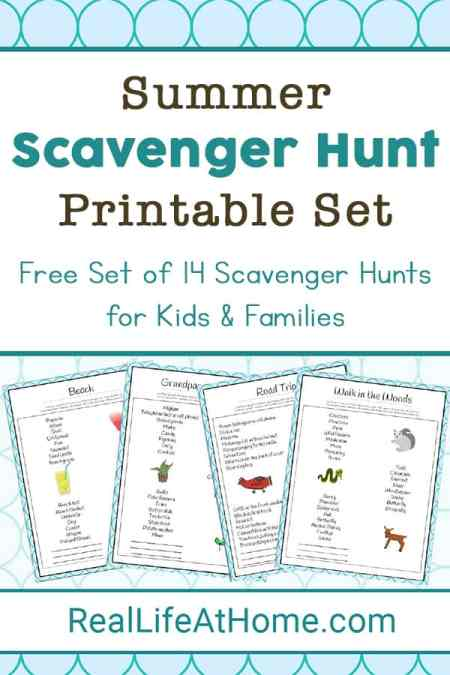 Want to put together a scavenger hunt for the kids this summer? Here are 14 free printable lists of summer scavenger hunt ideas for kids and families.