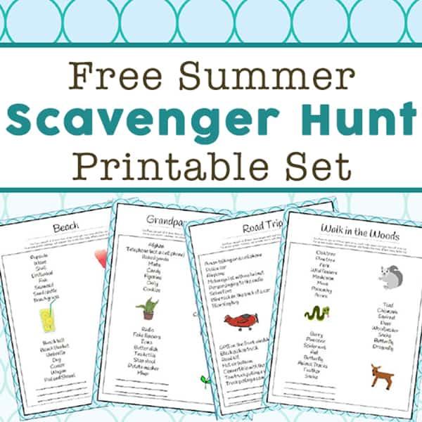image relating to Road Trip Scavenger Hunt Printable named Summertime Scavenger Hunt Options - 14 Free of charge Printable Scavenger