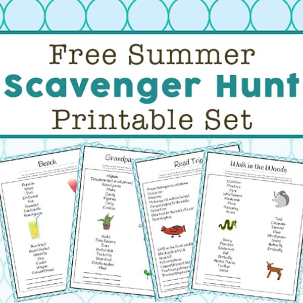 Summer Scavenger Hunt Ideas - 14 Free Printable Scavenger Hunt Lists