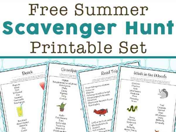 Summer Scavenger Hunt Ideas – 14 Free Printable Scavenger Hunt Lists