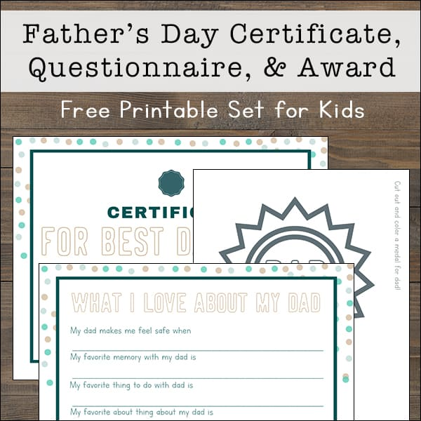 graphic relating to All About My Dad Free Printable called Absolutely free Printable Fathers Working day Questionnaire, Certification, and
