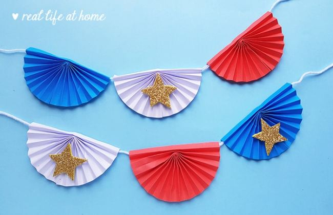 4th of July Banner Paper Craft for Kids