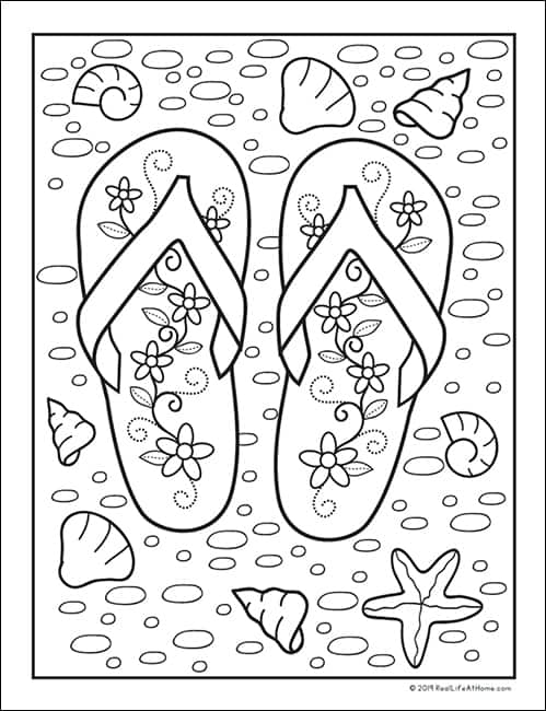 It is a picture of Summer Printable Coloring Pages inside free printable