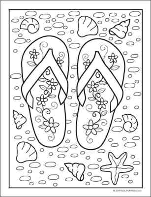 Summer Coloring pages - Doodle Art Alley | 400x307