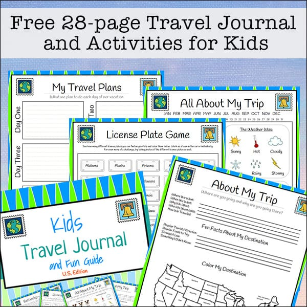 photograph relating to Travel Journal Printable referred to as Drive Magazine for Children - Free of charge 28-site Printable Packet