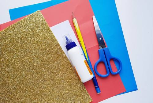 Supplies for 4th of July Banner Craft