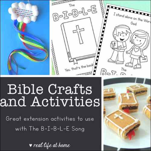 Here is a large collection of Bible Crafts and Activities (perfect extension activities to use as The Bible Song crafts and projects)