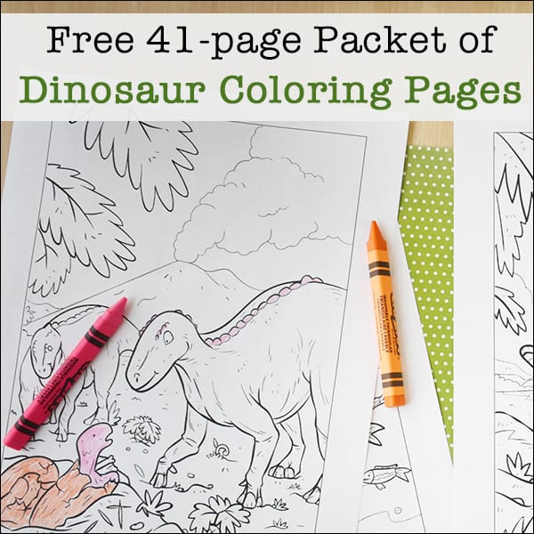 photograph about Printable Dinosaur known as No cost Printable Dinosaur Coloring Web pages Packet for Young children (41