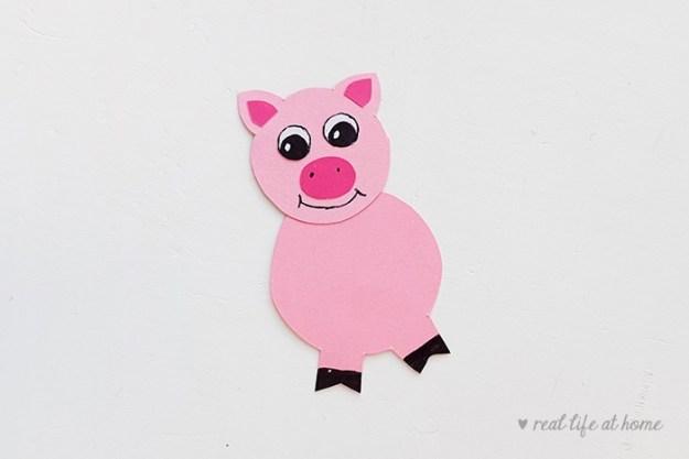 Pig Stick Puppet Craft