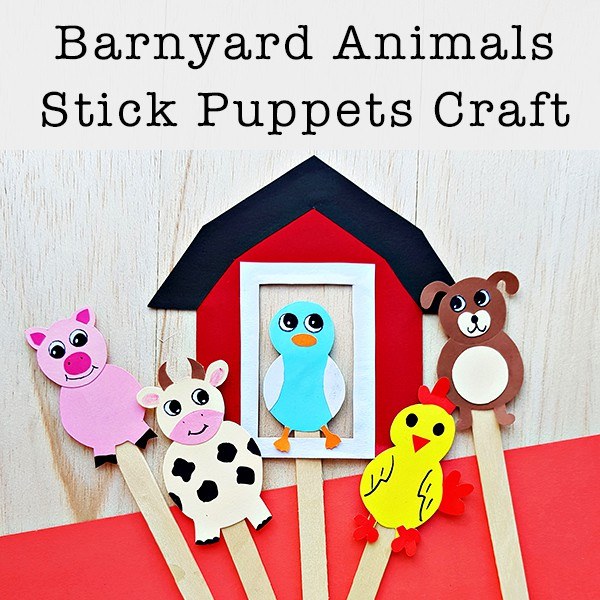 photo about Free Printable Animal Templates known as Farm Animal Adhere Puppets Craft with No cost Printable Models