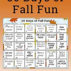 30 Days of Fall Activities for Kids and Families (printable fall activities)