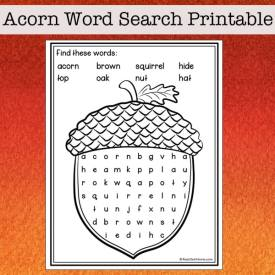 Acorn Word Search for Kids (Fall Word Search for Kids)