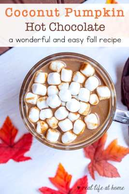Homemade coconut pumpkin hot chocolate