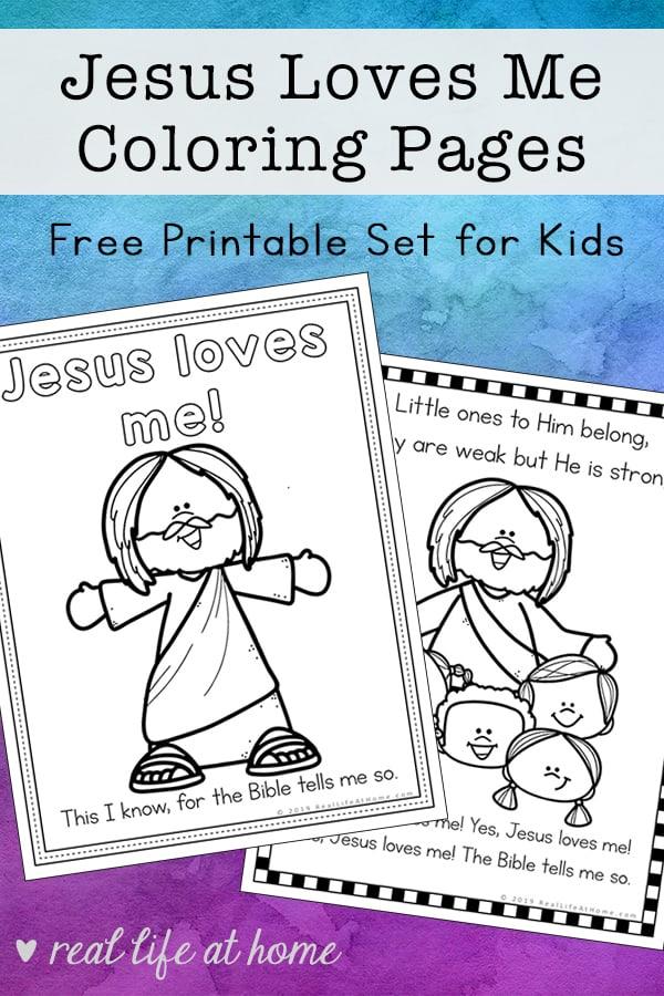 - Jesus Loves Me Coloring Pages Free Printables Set For Kids