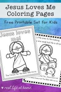 Jesus Loves Me Coloring Pages Set