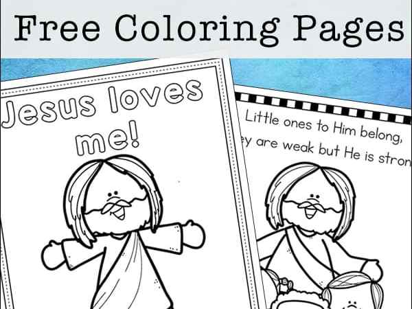 Jesus Loves Me Coloring Pages – Free Printables Set for Kids