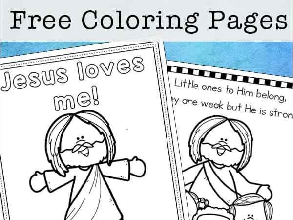 Jesus Loves Me Coloring Pages – Free Printables Set for Kids