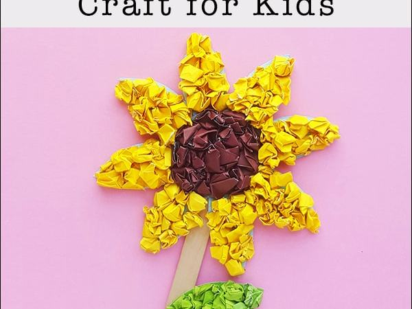 Easy and Inexpensive Paper Sunflower Craft for Kids (with Free Template)