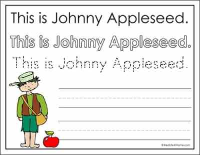 This is Johnny Appleseed worksheet for kids