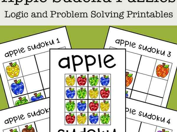 Sudoku for Kids: Free Apple Sudoku Printable Puzzle Set