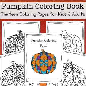 Fall Pumpkin Coloring Sheets for Kids and Adults