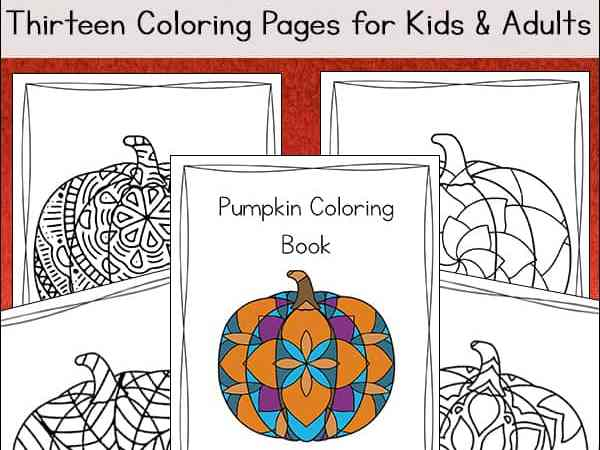 Pumpkin Coloring Pages for Kids and Adults (Free Printable Pumpkin Coloring Book)
