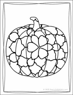 Pumpkin Coloring Sheet from the Free Pumpkin Coloring Book from Real Life at Home