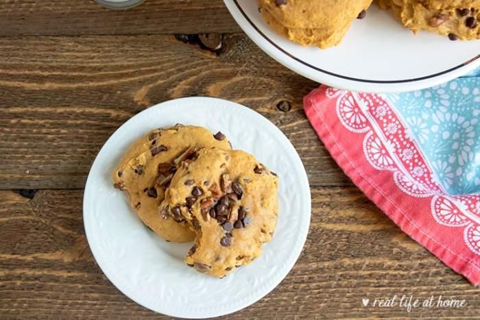 Pumpkin Chocolate Chip and Pecan Cookies Recipe