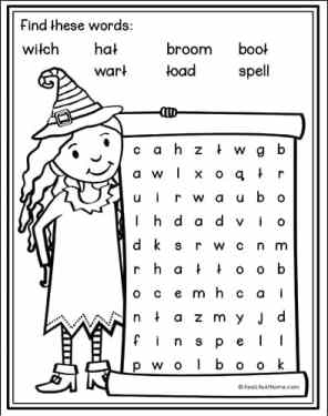 Witch Word Search Printable from Real Life at Home