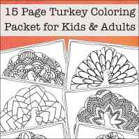 Turkey Coloring Pages for Kids and Adults (Free Printable Thanksgiving Coloring Pages)