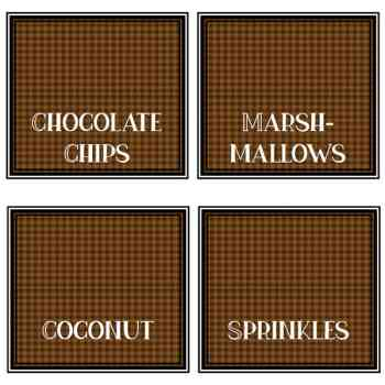 Hot Chocolate Bar Toppings Labels (Free printables)