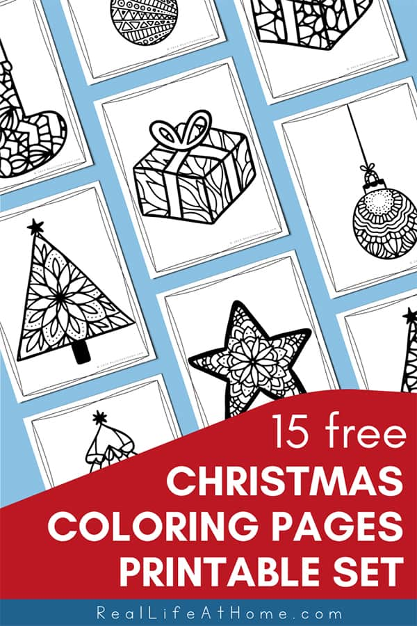- Free Christmas Coloring Pages For Kids And Adults (15 Pages)