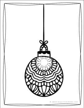 Ornament Coloring Page (from the Free Christmas Coloring Pages Set from Real Life at Home)
