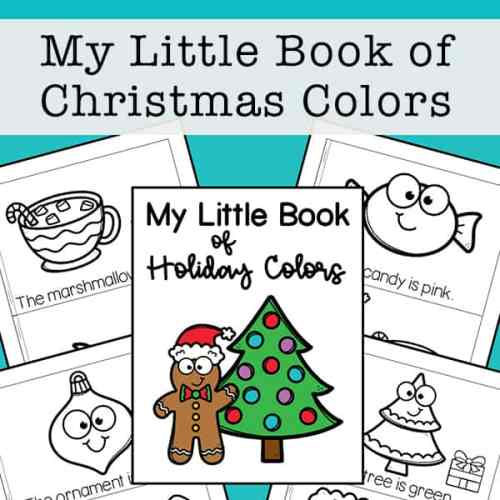 Holiday Colors Book for Kids (Free Printable)