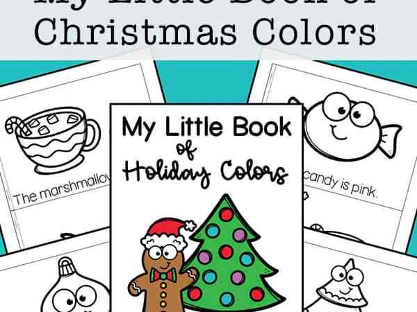 My Little Book of Christmas Colors Mini Book (Free Printable)