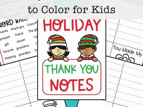 Free Printable Thank You Cards to Color (Plus a Thank You Card Word Bank)